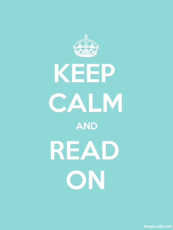 KEEP CALM AND READ ON - white/lightblue - Default (600x800)
