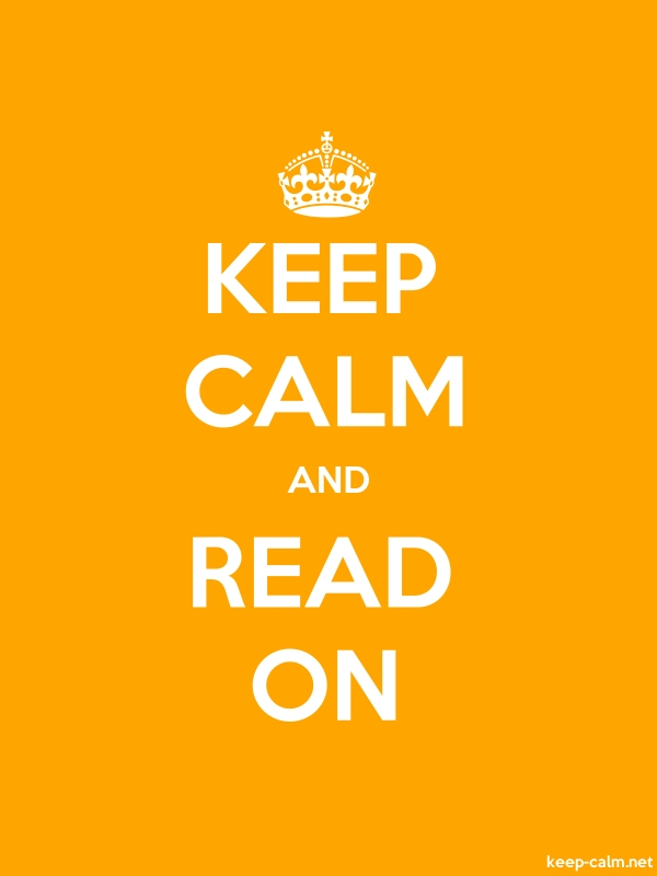 KEEP CALM AND READ ON - white/orange - Default (600x800)