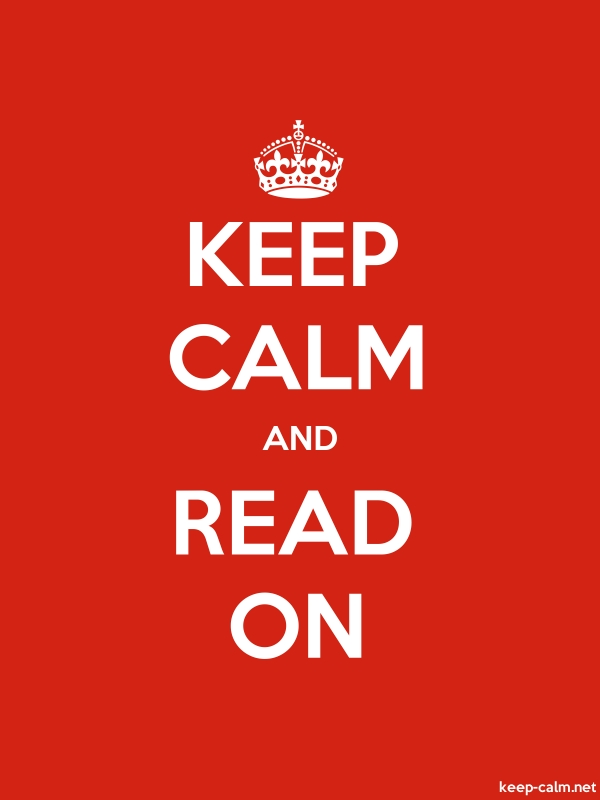 KEEP CALM AND READ ON - white/red - Default (600x800)