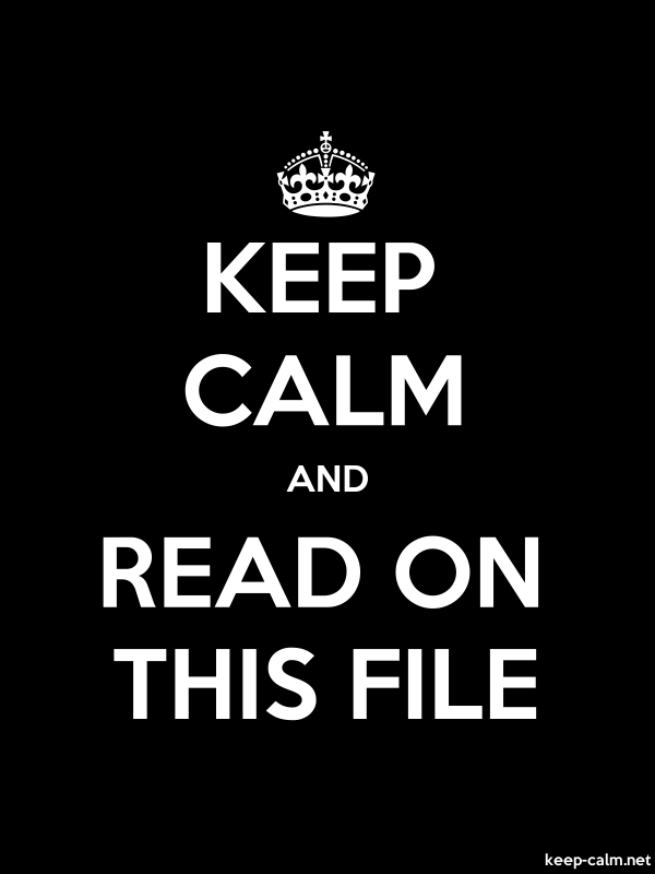 KEEP CALM AND READ ON THIS FILE - white/black - Default (600x800)