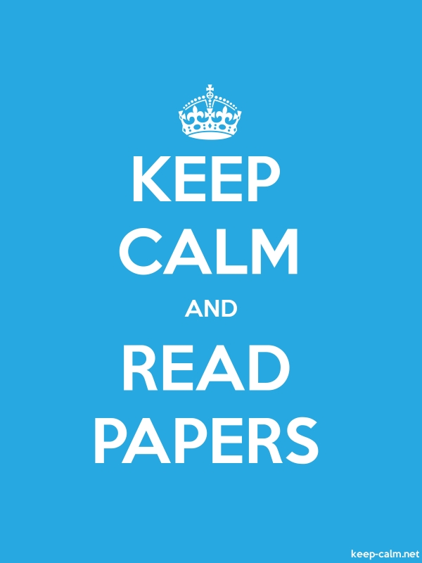 KEEP CALM AND READ PAPERS - white/blue - Default (600x800)