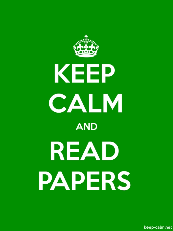 KEEP CALM AND READ PAPERS - white/green - Default (600x800)
