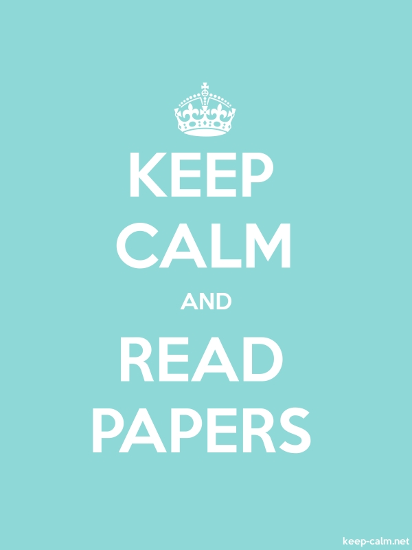 KEEP CALM AND READ PAPERS - white/lightblue - Default (600x800)