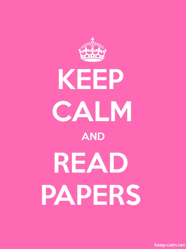 KEEP CALM AND READ PAPERS - white/pink - Default (600x800)