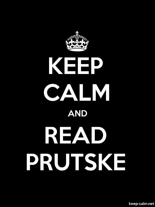 KEEP CALM AND READ PRUTSKE - white/black - Default (600x800)