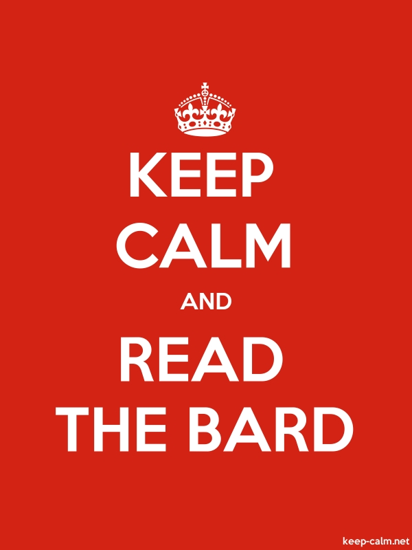 KEEP CALM AND READ THE BARD - white/red - Default (600x800)