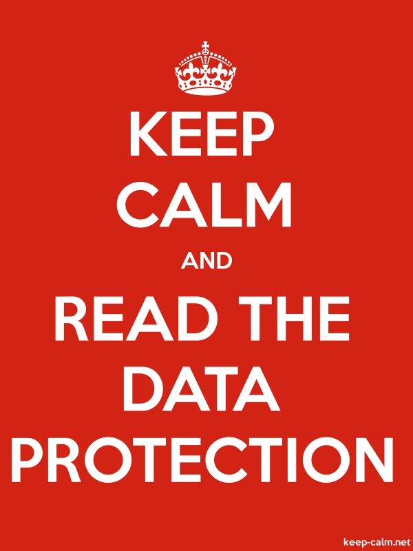 KEEP CALM AND READ THE DATA PROTECTION - white/red - Default (600x800)