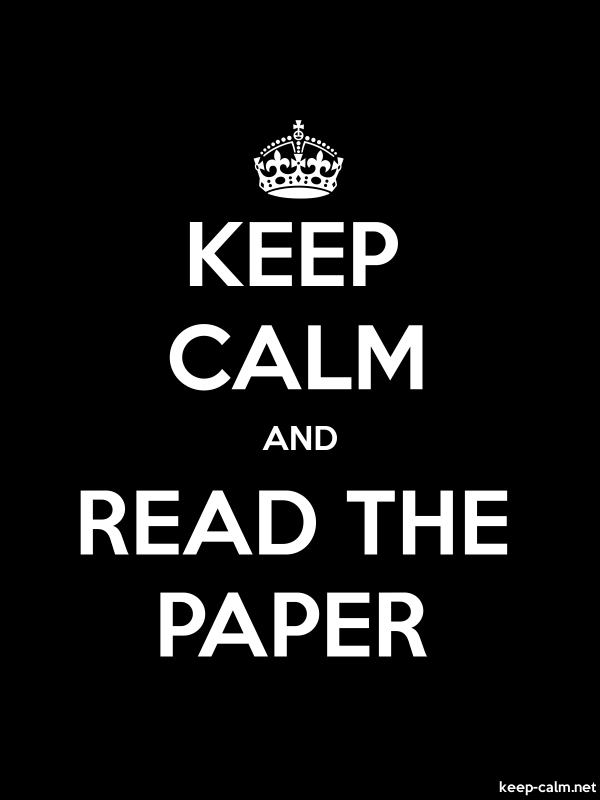 KEEP CALM AND READ THE PAPER - white/black - Default (600x800)