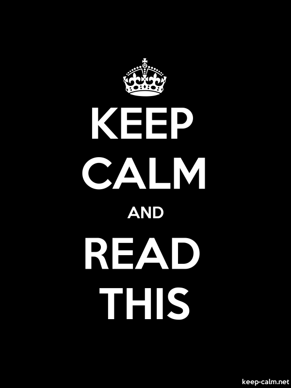KEEP CALM AND READ THIS - white/black - Default (600x800)