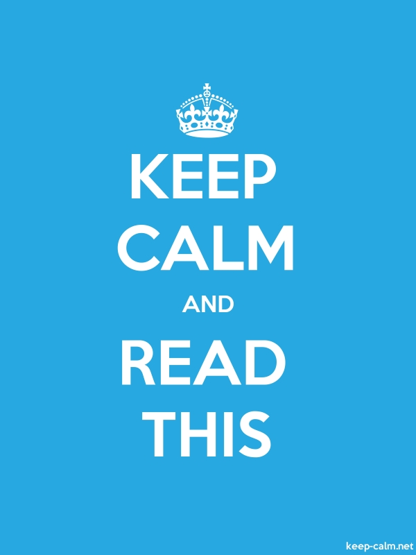 KEEP CALM AND READ THIS - white/blue - Default (600x800)