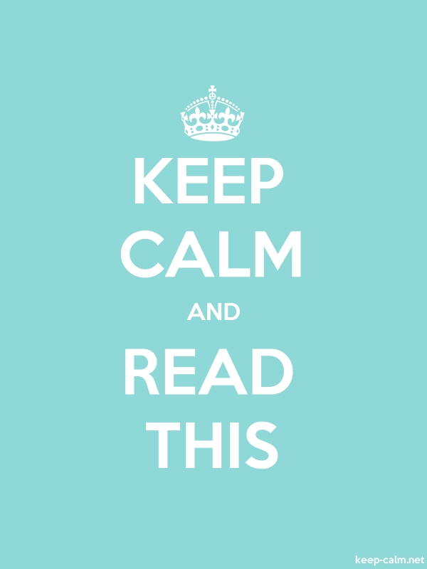 KEEP CALM AND READ THIS - white/lightblue - Default (600x800)
