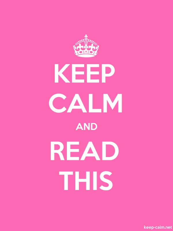 KEEP CALM AND READ THIS - white/pink - Default (600x800)