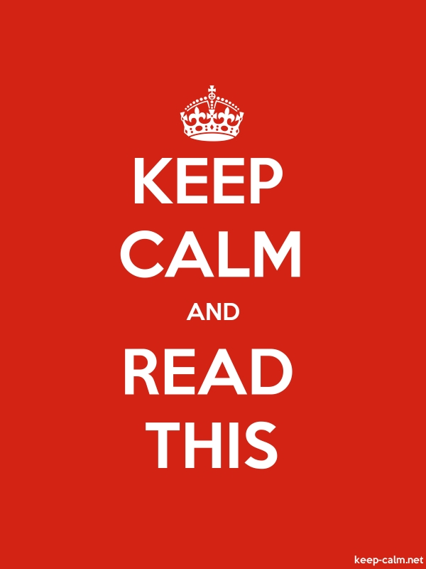 KEEP CALM AND READ THIS - white/red - Default (600x800)