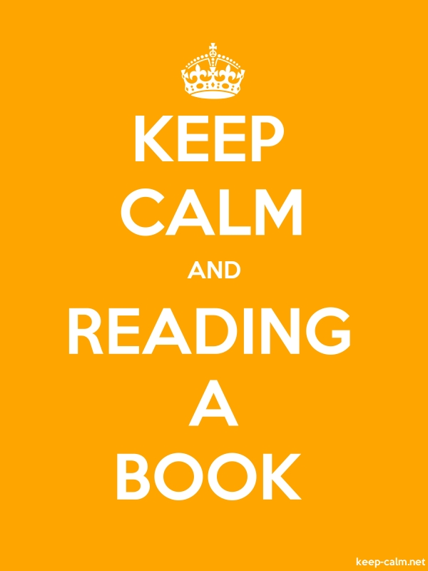 KEEP CALM AND READING A BOOK - white/orange - Default (600x800)