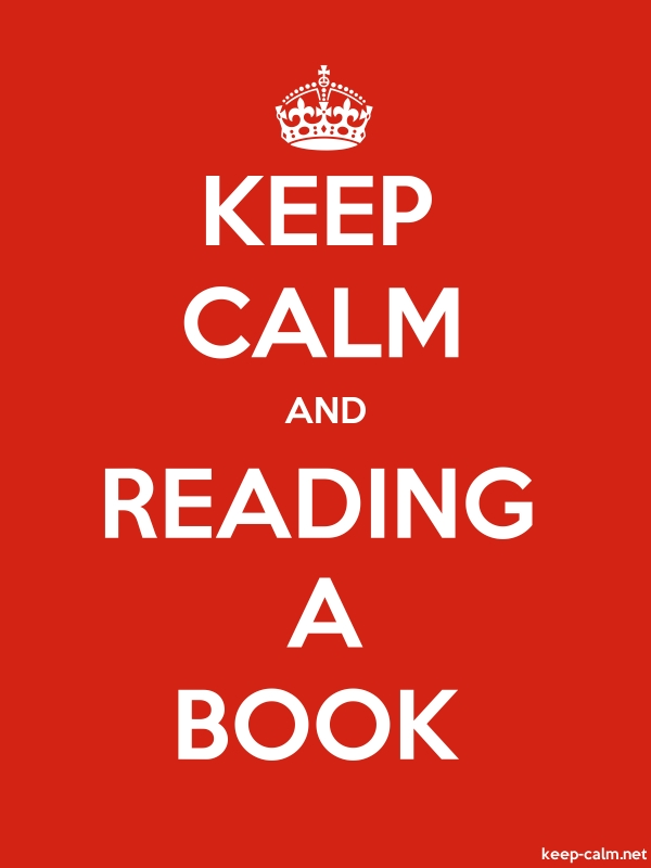 KEEP CALM AND READING A BOOK - white/red - Default (600x800)