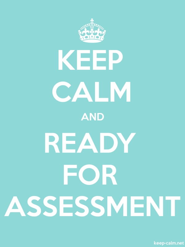 KEEP CALM AND READY FOR ASSESSMENT - white/lightblue - Default (600x800)