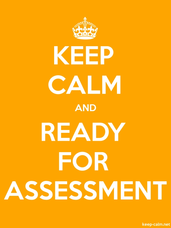 KEEP CALM AND READY FOR ASSESSMENT - white/orange - Default (600x800)