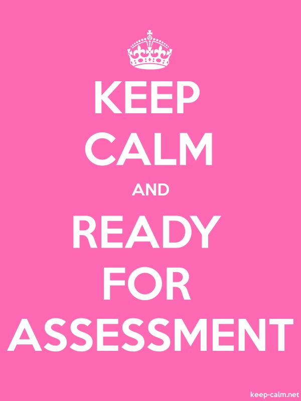 KEEP CALM AND READY FOR ASSESSMENT - white/pink - Default (600x800)