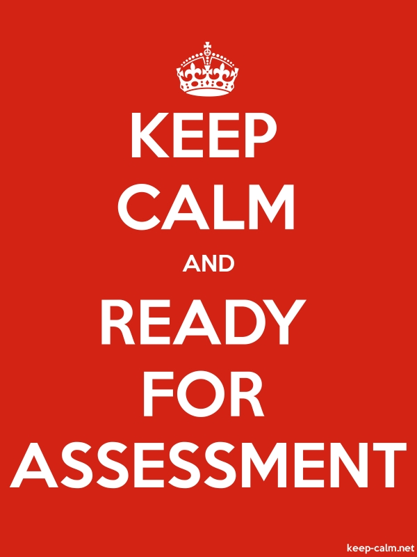 KEEP CALM AND READY FOR ASSESSMENT - white/red - Default (600x800)