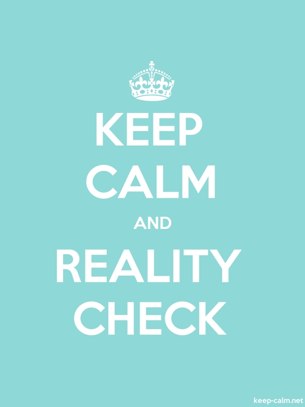 KEEP CALM AND REALITY CHECK - white/lightblue - Default (600x800)