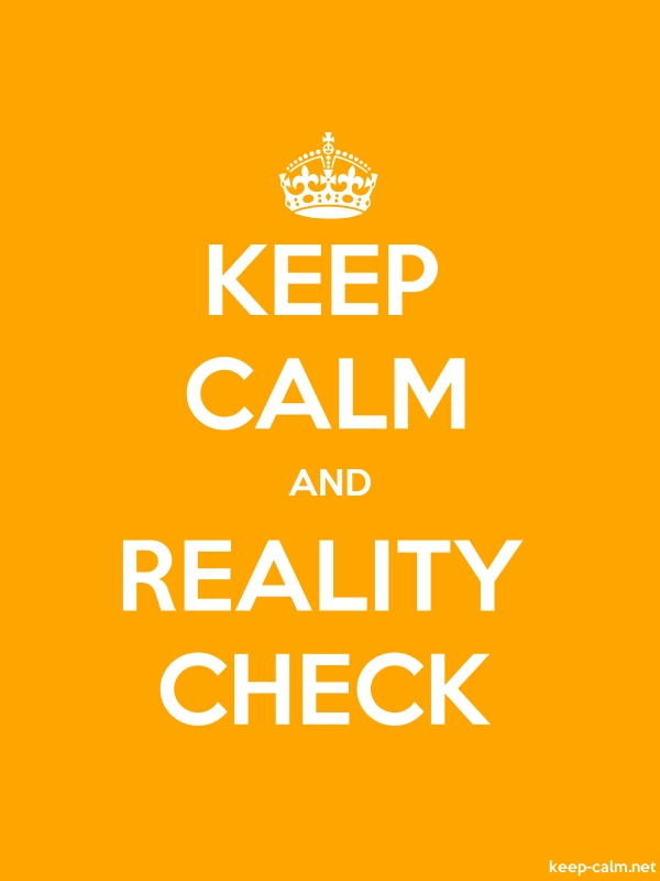 KEEP CALM AND REALITY CHECK - white/orange - Default (600x800)