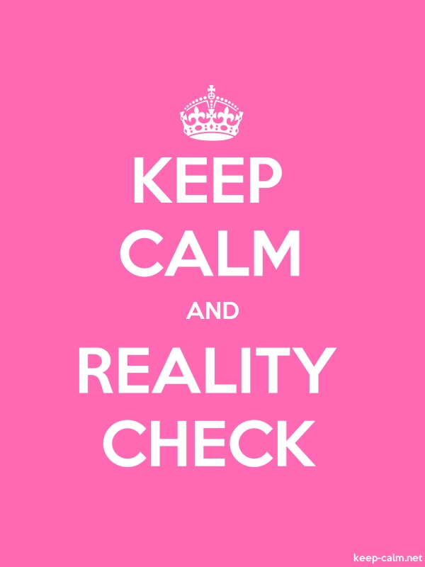 KEEP CALM AND REALITY CHECK - white/pink - Default (600x800)