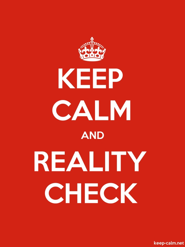 KEEP CALM AND REALITY CHECK - white/red - Default (600x800)