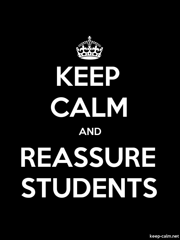 KEEP CALM AND REASSURE STUDENTS - white/black - Default (600x800)