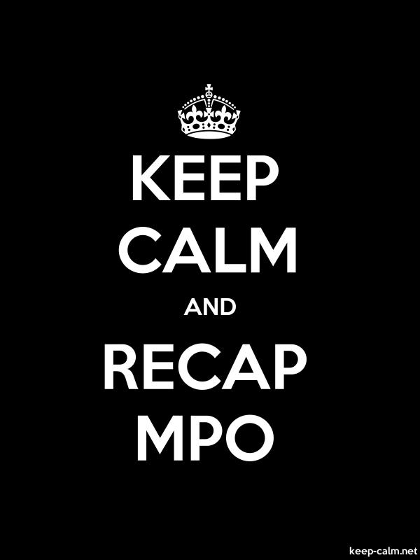 KEEP CALM AND RECAP MPO - white/black - Default (600x800)