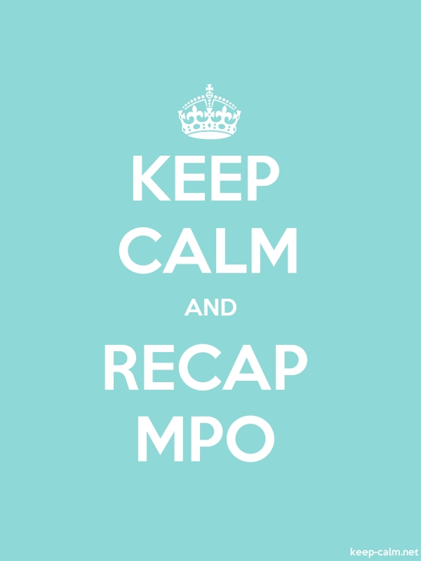 KEEP CALM AND RECAP MPO - white/lightblue - Default (600x800)