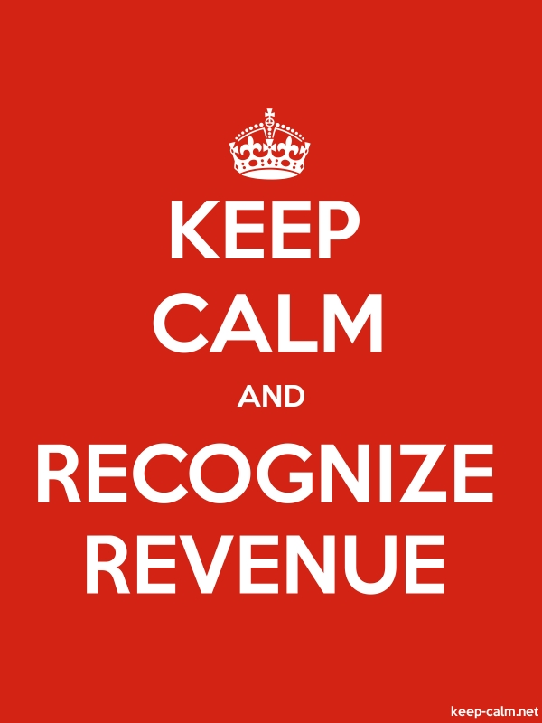 KEEP CALM AND RECOGNIZE REVENUE - white/red - Default (600x800)