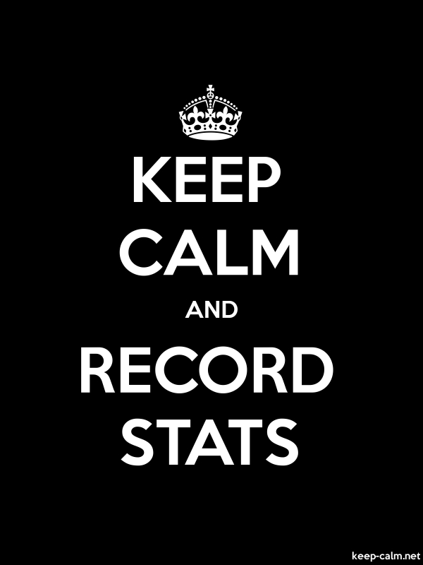 KEEP CALM AND RECORD STATS - white/black - Default (600x800)