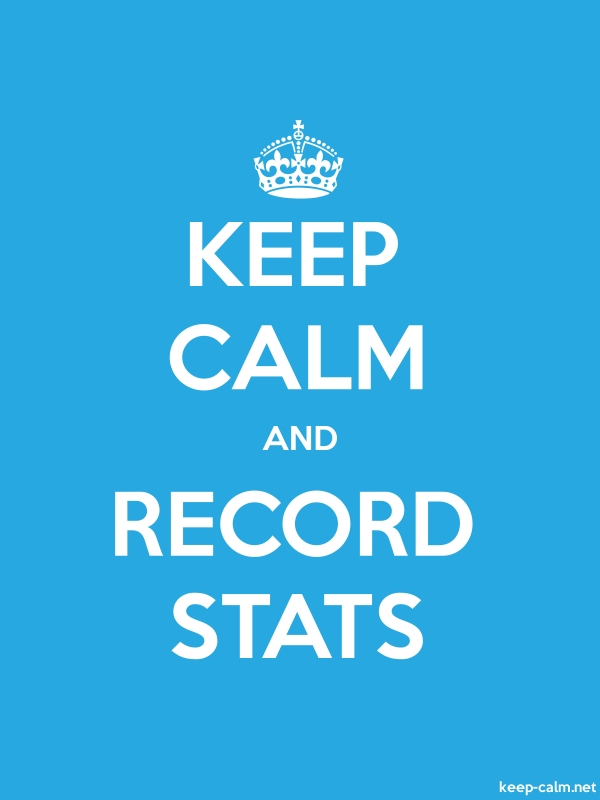 KEEP CALM AND RECORD STATS - white/blue - Default (600x800)