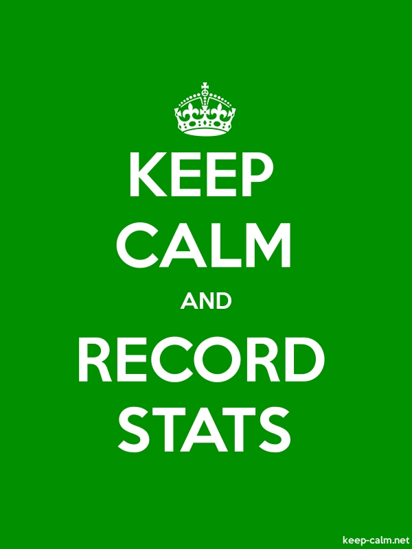 KEEP CALM AND RECORD STATS - white/green - Default (600x800)