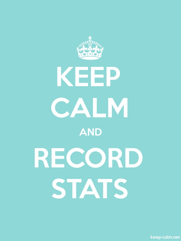 KEEP CALM AND RECORD STATS - white/lightblue - Default (600x800)