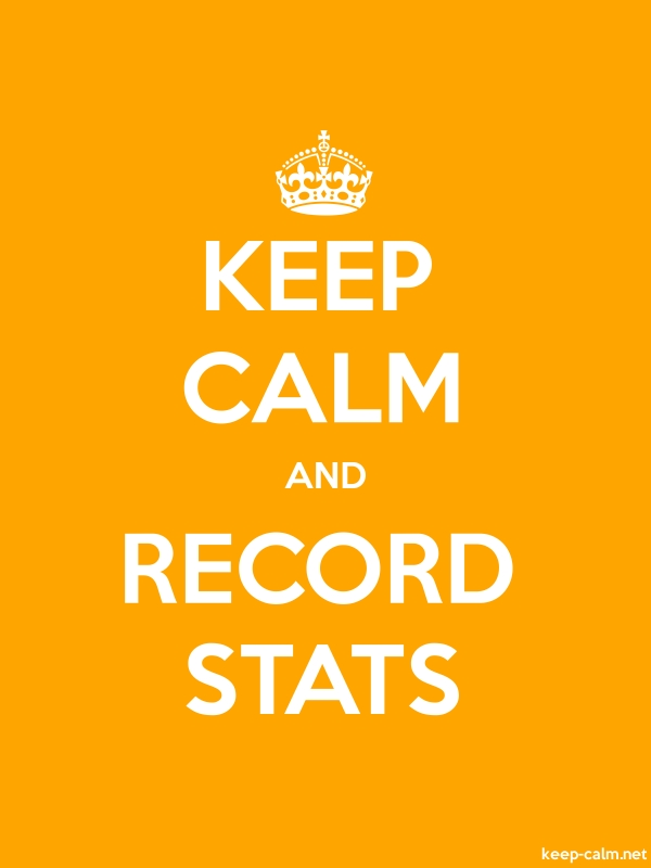 KEEP CALM AND RECORD STATS - white/orange - Default (600x800)