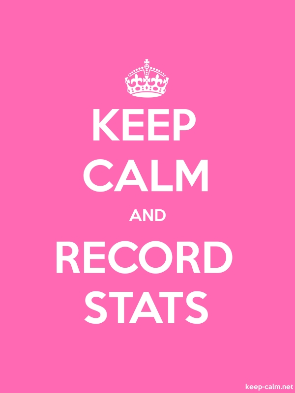 KEEP CALM AND RECORD STATS - white/pink - Default (600x800)