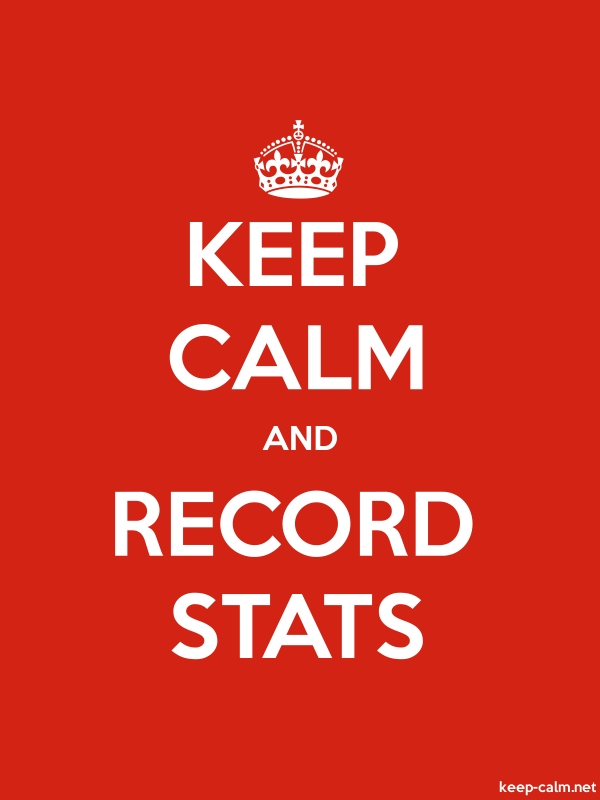 KEEP CALM AND RECORD STATS - white/red - Default (600x800)