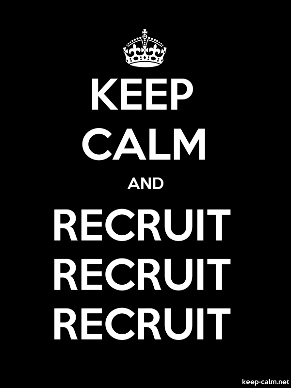 KEEP CALM AND RECRUIT RECRUIT RECRUIT - white/black - Default (600x800)
