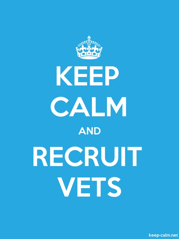 KEEP CALM AND RECRUIT VETS - white/blue - Default (600x800)