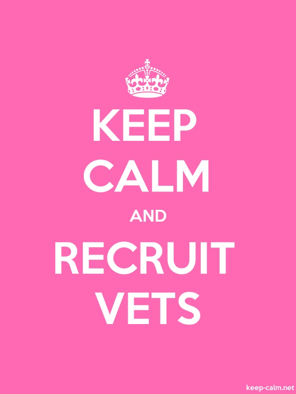 KEEP CALM AND RECRUIT VETS - white/pink - Default (600x800)