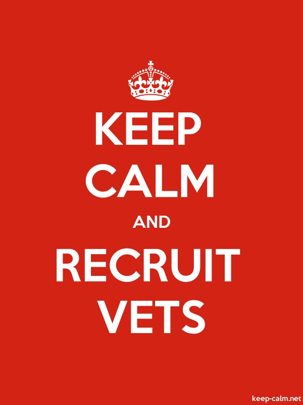 KEEP CALM AND RECRUIT VETS - white/red - Default (600x800)