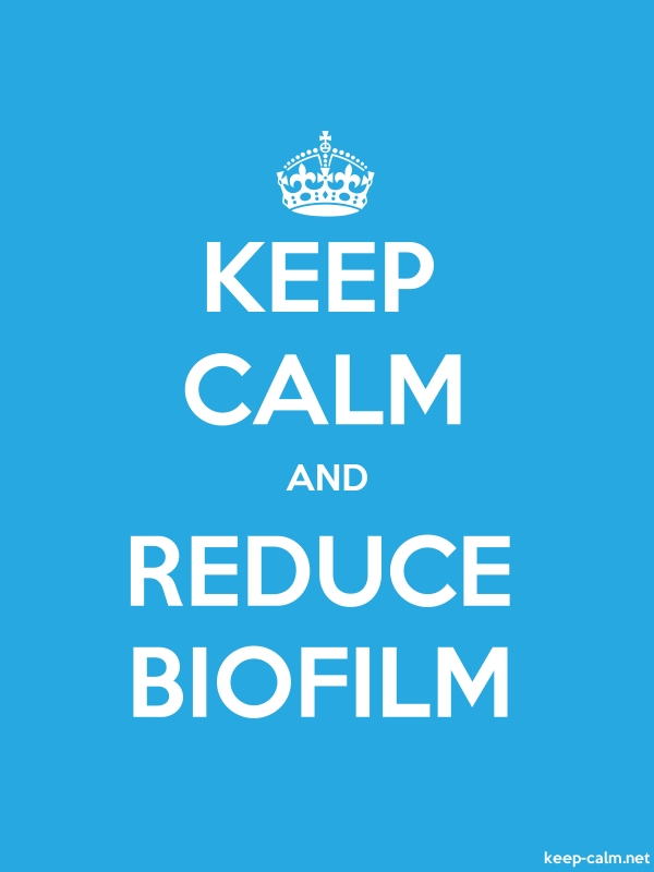 KEEP CALM AND REDUCE BIOFILM - white/blue - Default (600x800)