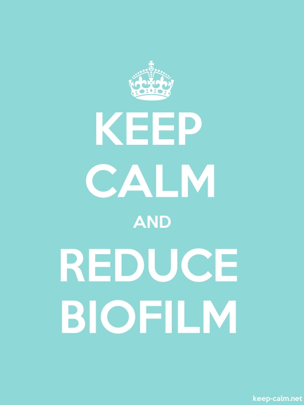 KEEP CALM AND REDUCE BIOFILM - white/lightblue - Default (600x800)