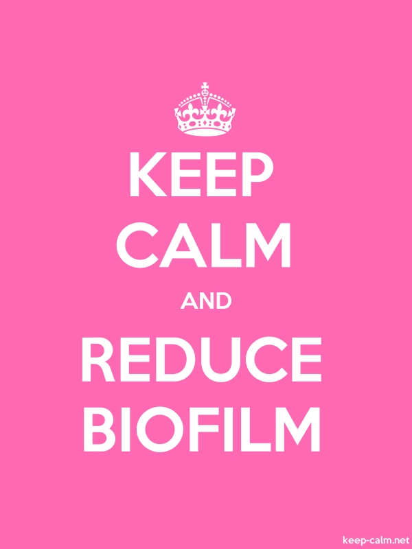 KEEP CALM AND REDUCE BIOFILM - white/pink - Default (600x800)