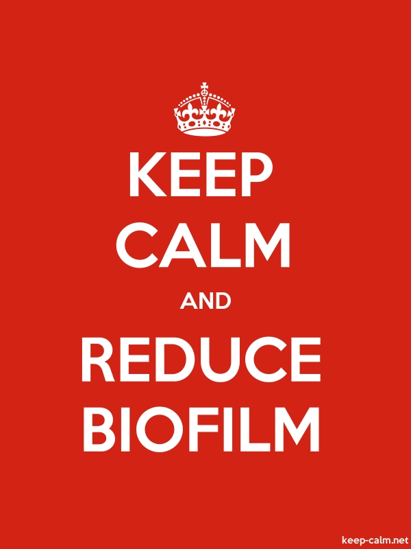 KEEP CALM AND REDUCE BIOFILM - white/red - Default (600x800)