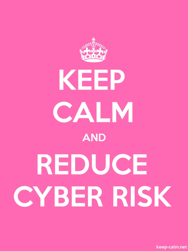 KEEP CALM AND REDUCE CYBER RISK - white/pink - Default (600x800)