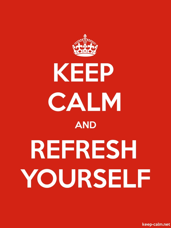 KEEP CALM AND REFRESH YOURSELF - white/red - Default (600x800)