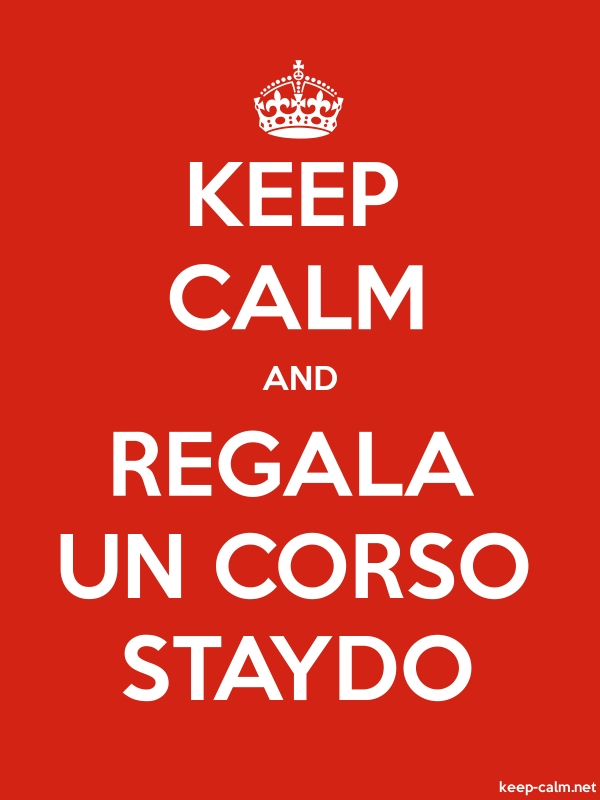 KEEP CALM AND REGALA UN CORSO STAYDO - white/red - Default (600x800)