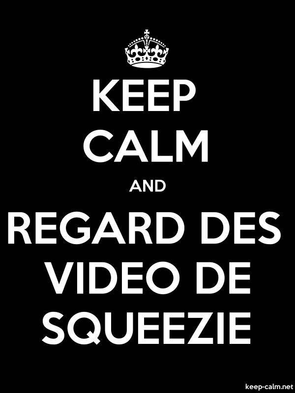 KEEP CALM AND REGARD DES VIDEO DE SQUEEZIE - white/black - Default (600x800)